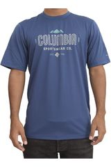 Columbia Azul de Hombre modelo tech trek graphic sh Casual Polos