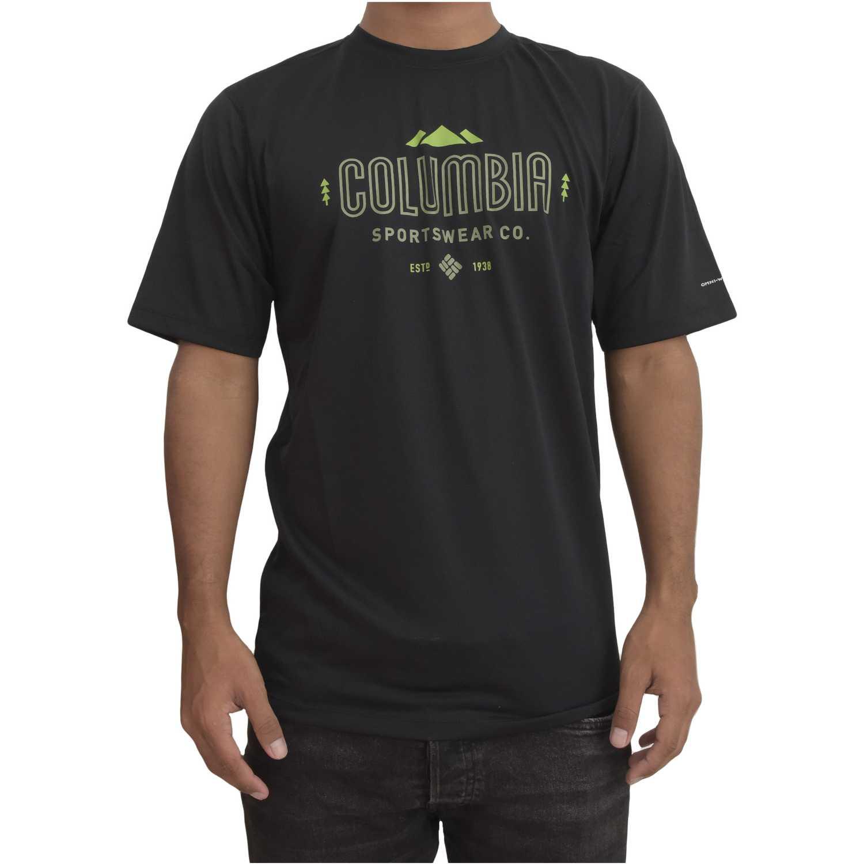 Polo de Hombre Columbia Negro tech trek graphic sh