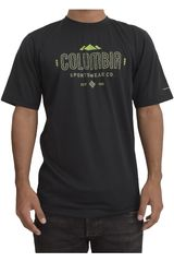 Columbia Negro de Hombre modelo tech trek graphic sh Casual Polos