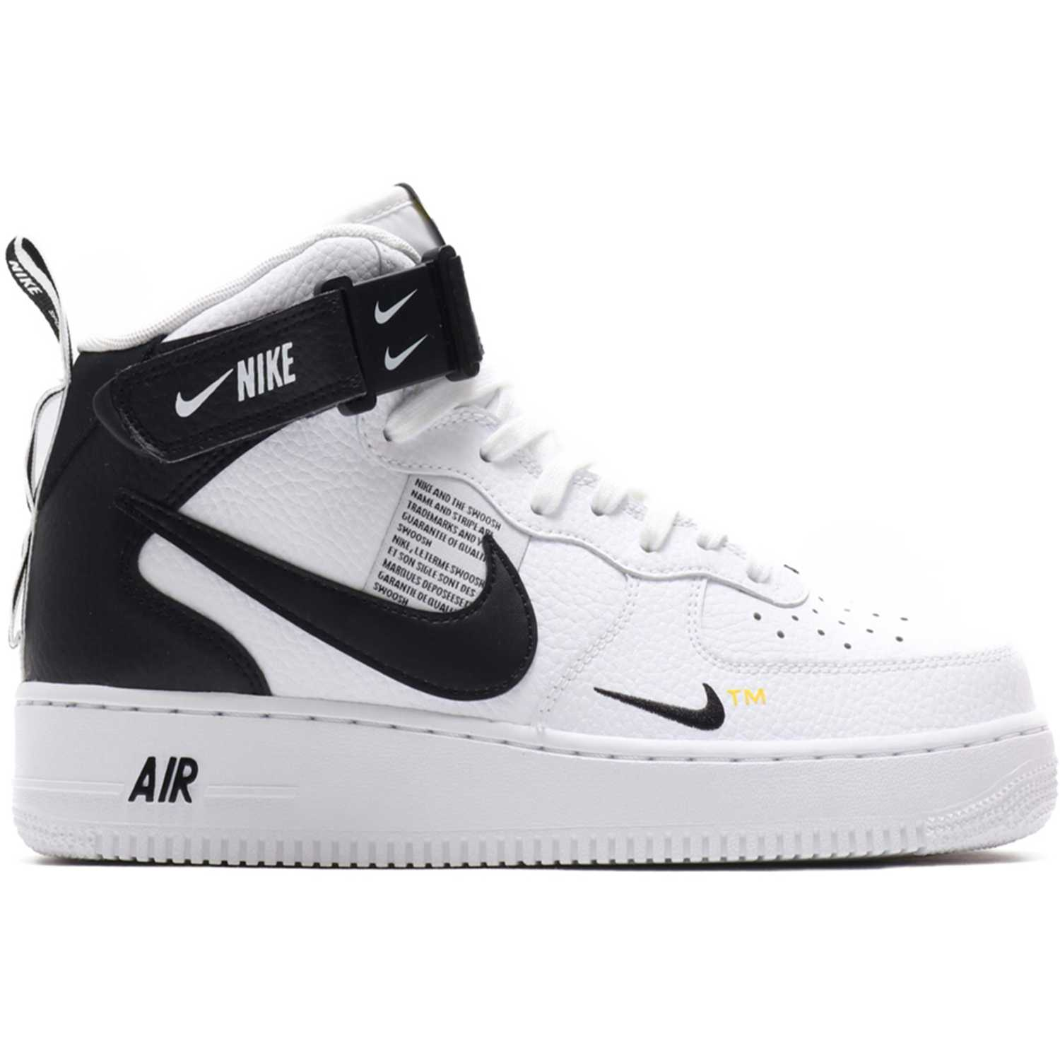 nike air force 1 negro swoosh