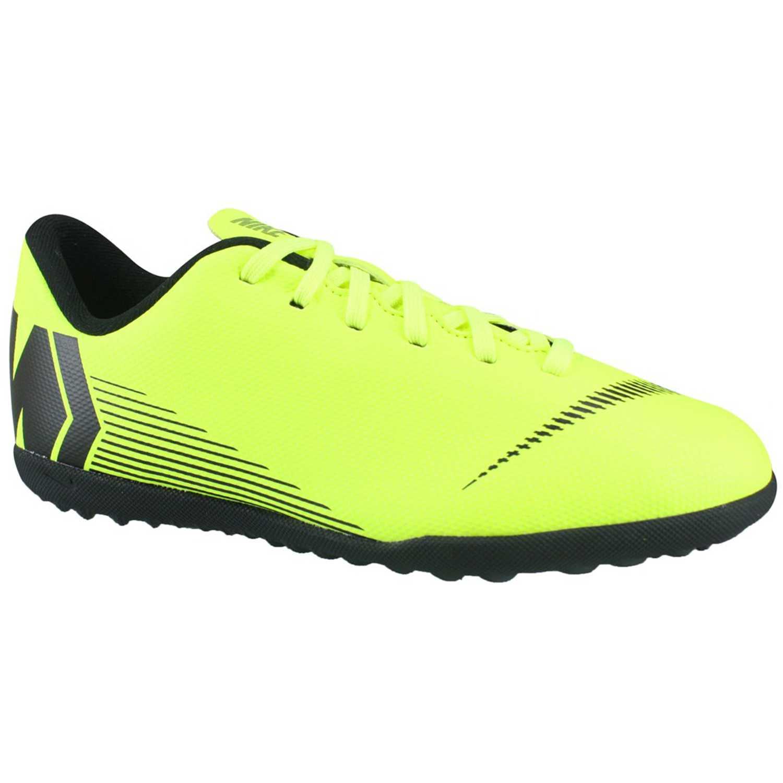 Zapatilla de Jovencito Nike Verde / negro jr vaporx 12 club gs tf
