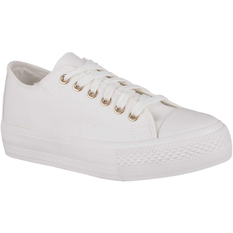 Zapatilla de Mujer Platanitos Blanco zc 8043