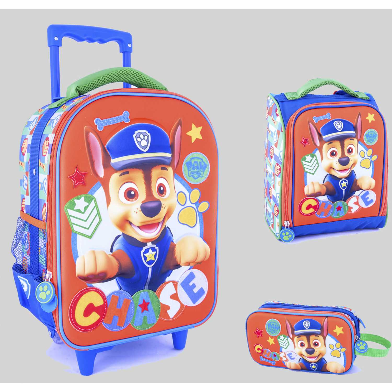 Pack mochilas de Niño Scool Naranja 9 scool paw patrol h set eva 3d med_a