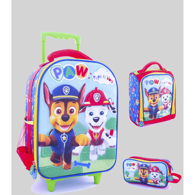 Pack mochilas de Niño Scool Verde 9 scool paw patrol h set tela c/pvc med