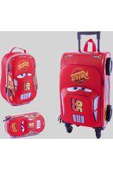 Pack mochilas de Niño Scool Rojo 9 cars set eva con forma