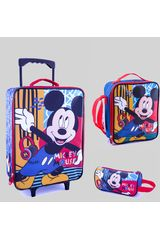 Pack mochilas de Niño Scool Amarillo 9 scool mickey set económico