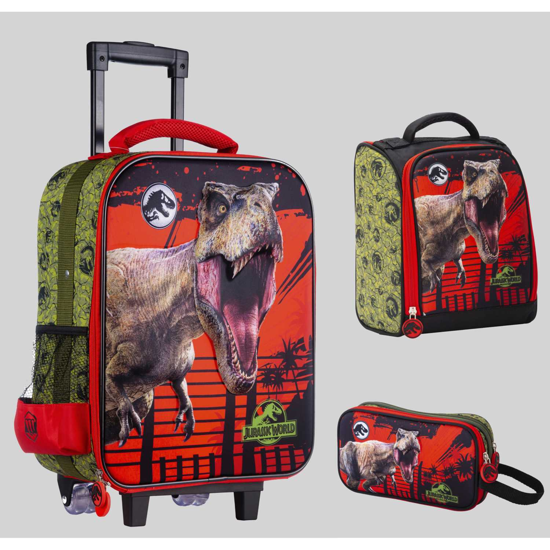 Pack mochilas de Niño Scool Rojo 9 scool jurassic set eva 3d gde_b