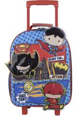 Mochila con ruedas de Niño Kiddo Rojo / azul mochila con ruedas chibi niño