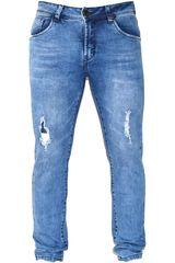 ROCK & RELIGION Celeste de Hombre modelo fisher Casual Pantalones Jeans