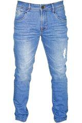 ROCK & RELIGION Celeste de Hombre modelo michael Casual Pantalones Jeans