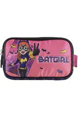 Cartuchera de Niña Kiddo Rosado / negro cartuchera 2 cierres dc super hero girls batgirl