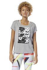 Reebok Gris de Mujer modelo gs reebok letterpress Deportivo Polos