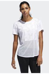 Adidas Blanco / gris de Mujer modelo own the run tee Deportivo Polos