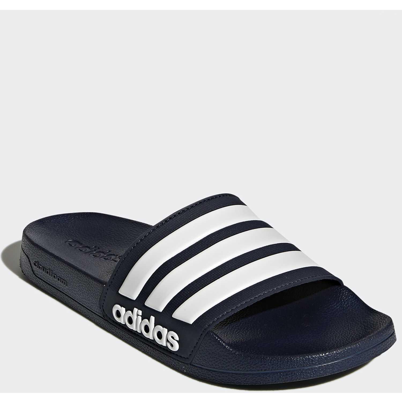 Sandalia de Hombre Adidas Navy / Blanco adilette shower