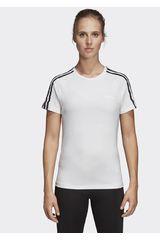 Adidas Blanco / negro de Mujer modelo w d2m 3s tee Deportivo Polos