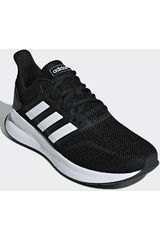 the latest d8f4b fb62c Adidas Negro   blanco de Hombre modelo runfalcon Casual Deportivo Urban  Walking Zapatillas