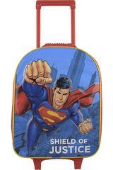 Mochila con ruedas de Niño Kiddo Celeste / rojo mochila con ruedas superman puño