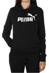Puma Negro / blanco de Mujer modelo ess logo hoody tr Deportivo Poleras