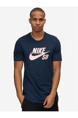 Polo de Hombre Nike Navy / Melon sb logo tee