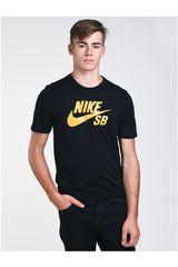 Polo de Hombre Nike Negro / amarillo sb logo tee