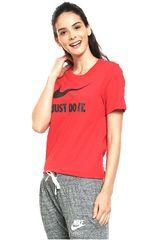 Nike Rojo / negro de Mujer modelo w nsw tee crew jdi swsh hbr Camisetas Deportivo