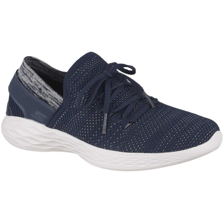 e11a6982a Zapatilla de Mujer Skechers Azul   blanco you