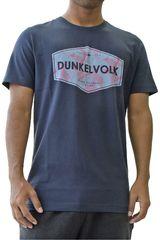 Dunkelvolk Azul oscuro de Hombre modelo palms Casual Polos