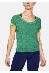 Under Armour Gris / verde de Mujer modelo thrdbrne smls htr split t Polos Deportivo