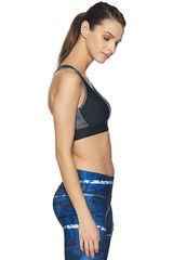 Under Armour Negro / blanco de Mujer modelo armour mid crossback print Deportivo Tops