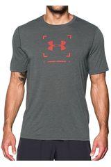 Under Armour Plomo / rojo de Hombre modelo threadborne target logo ss Deportivo Polos
