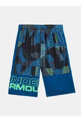 Under Armour Azul / verde de Jovencito modelo ua stunt printed short Deportivo Shorts