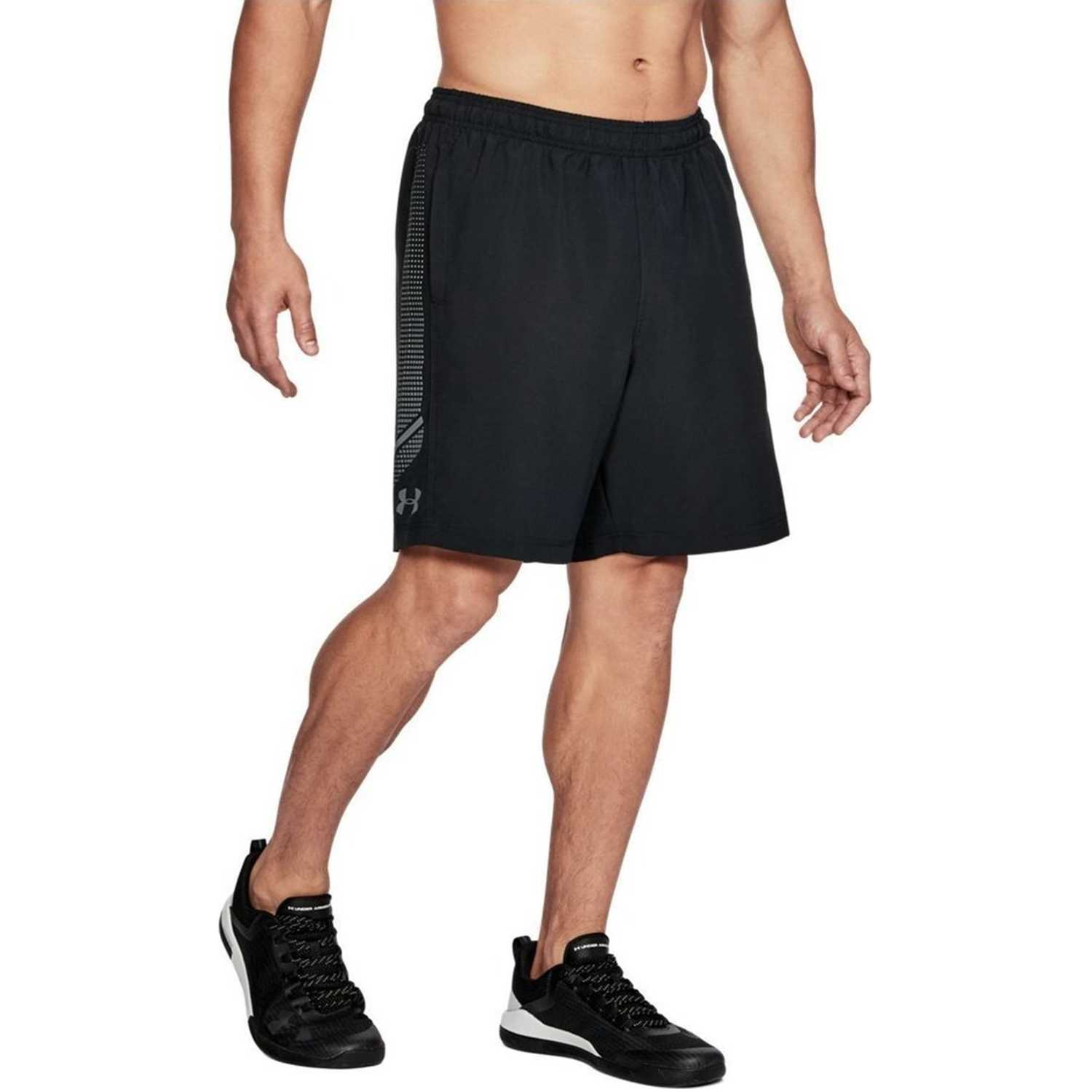 Short de Hombre Under Armour Negro woven graphic short-blk