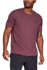 Under Armour Morado de Hombre modelo sportstyle left chest ss-red Deportivo Polos