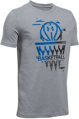 Under Armour Gris / azul de Hombre modelo basketball badge ss t Deportivo Polos