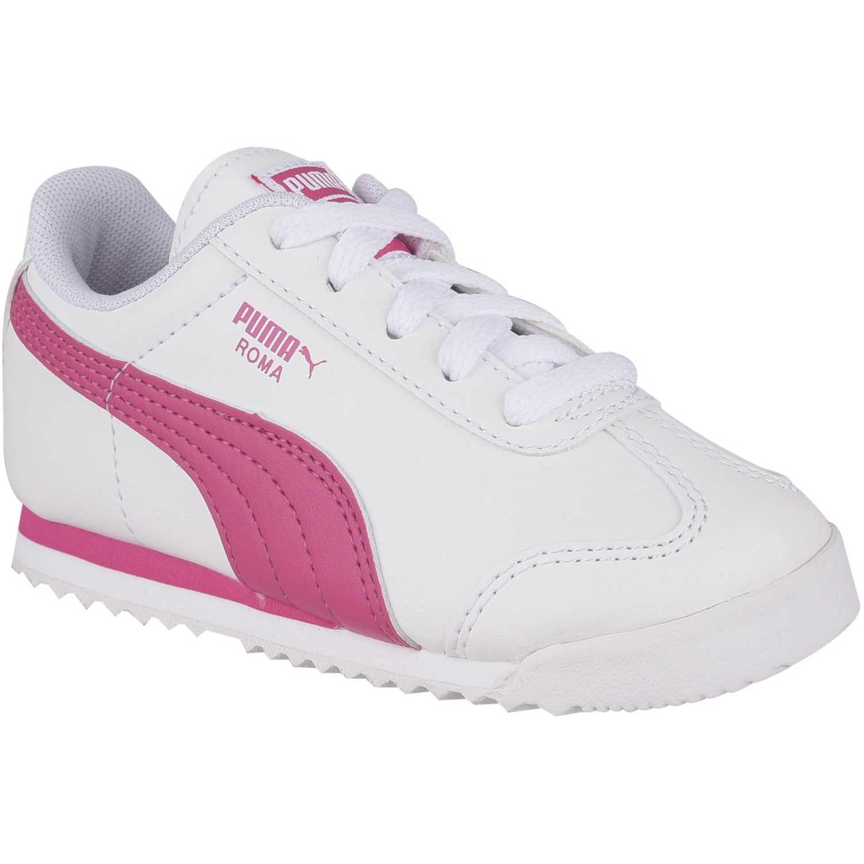 4fb3038130 Zapatilla de Niña Puma Blanco   rosado roma basic inf