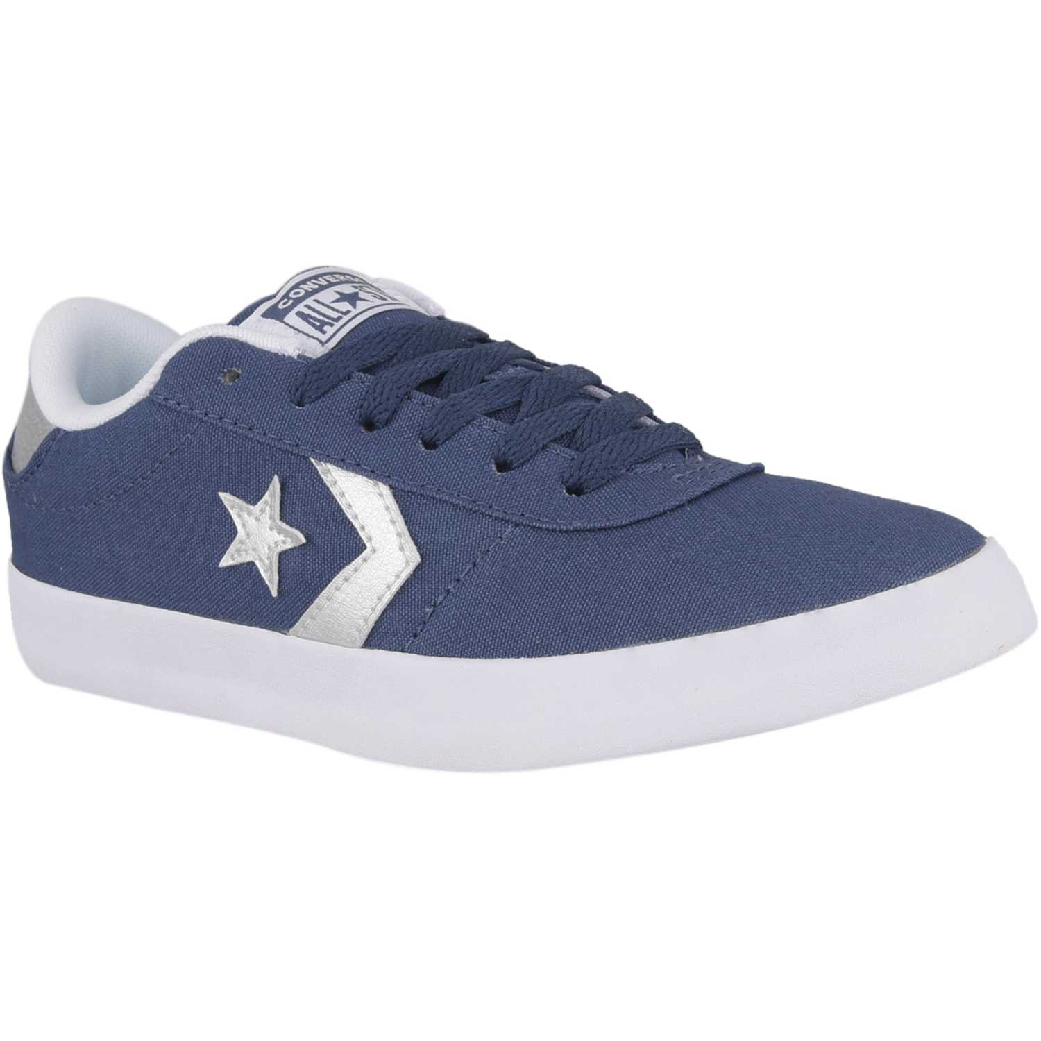 Zapatilla de Mujer Converse Azul / blanco point star canvas metallic