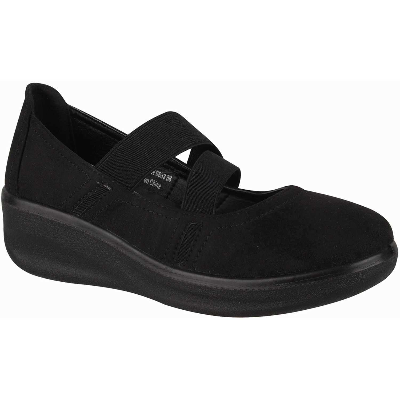 Calzado de Mujer Platanitos Negro cpw 9833