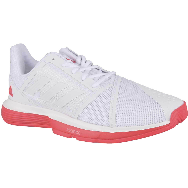 Zapatilla de Hombre Adidas Blanco / rojo courtjam bounce m