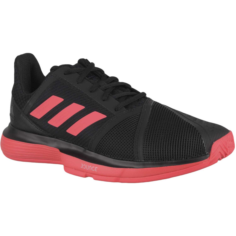Zapatilla de Hombre Adidas Negro / rojo courtjam bounce m