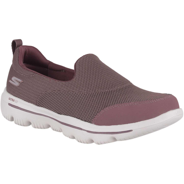 Zapatilla de Mujer Skechers Morado go walk evolution ultra