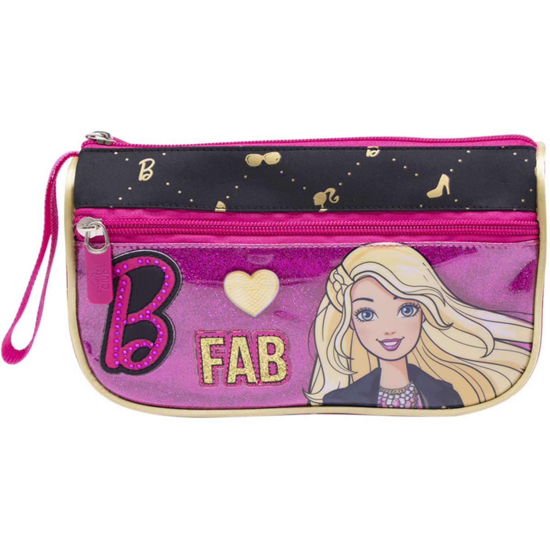 Cartuchera de Niña Barbie Fucsia / negro cartuchera barbie