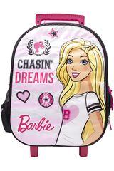 Mochila con ruedas de Niña Barbie maleta con ruedas barbie Rosado