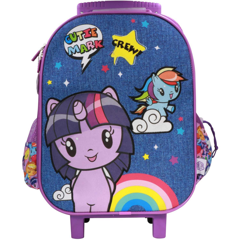 Mochila con ruedas de Niña My Little Pony Azul / morado maleta con ruedas my little pony