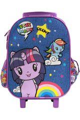 My Little Pony Azul / morado de Mujer modelo maleta con ruedas my little pony Mochilas Maletínes