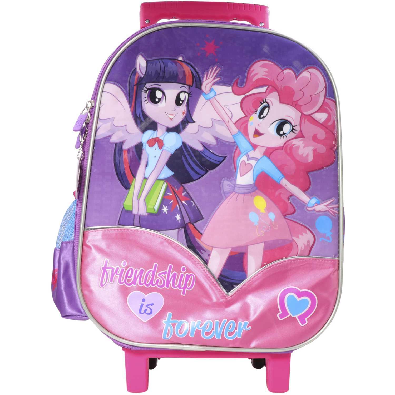Mochila con ruedas de Niña MLP Morado / fucsia maleta con ruedas mlp equestria girls