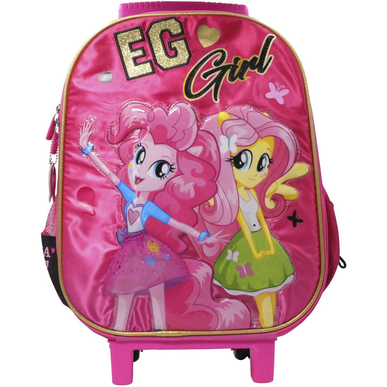Mochila con ruedas de Niña MLP Rosado / negro maleta con ruedas mlp equestria girls
