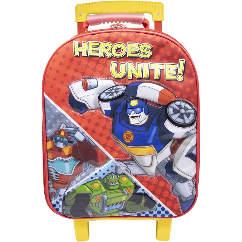 Mochila con ruedas de Niño Transformers Rojo / azul maleta con ruedas trf rescue bots