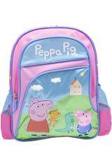 Peppa Pig Rosado / celeste de Niña modelo mochila peppa pig Mochilas