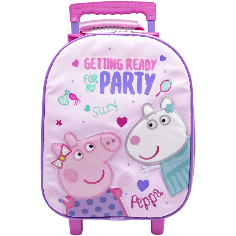 Mochila con ruedas de Niña Peppa Pig Lila maleta con ruedas peppa pig