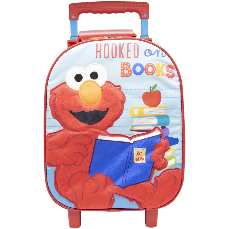 Mochila con ruedas de Niño Sesamo Rojo / celeste maleta con ruedas sesamo